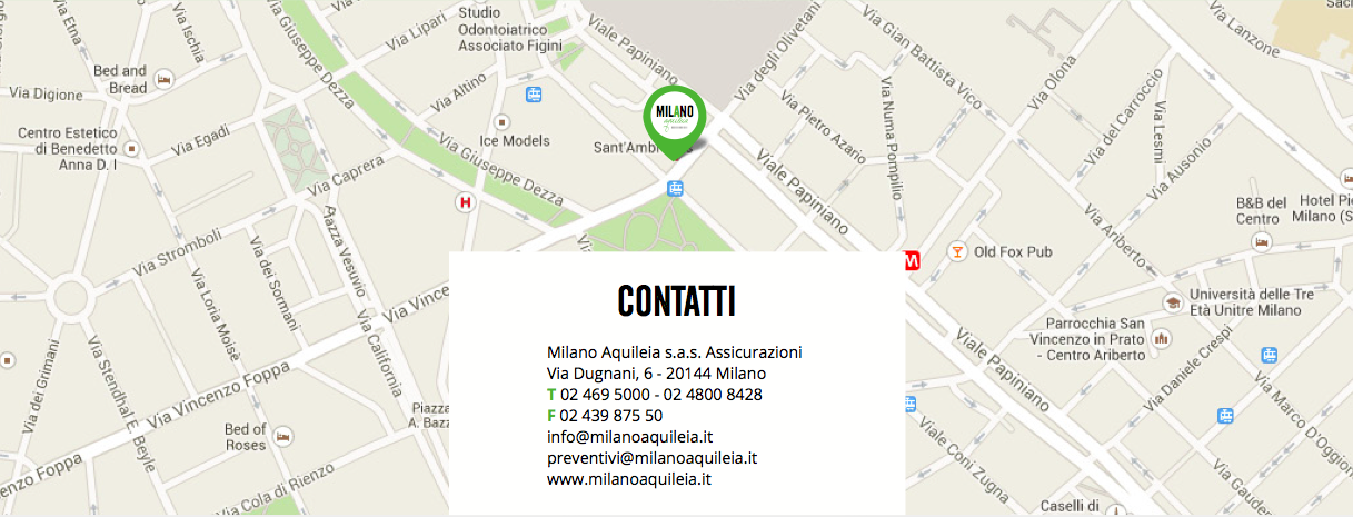 Milano Aquileia Assicurazioni - Contatti